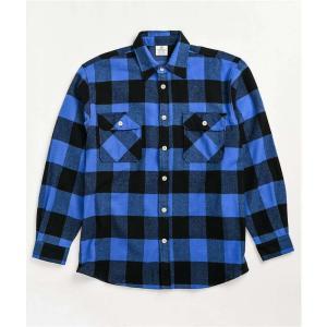 ロスコ ROTHCO メンズ シャツ フランネルシャツ トップス heavy blue flannel shirt Blue|fermart
