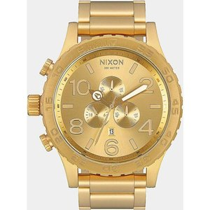 ニクソン メンズ 腕時計 Nixon 51-30 All Gold Chronograph Watch Gold|fermart