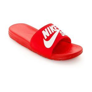 ナイキ メンズ サンダル シューズ・靴 Nike SB Benassi SolarSoft Red & White Slides Red|fermart