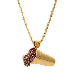 キング アイス メンズ ネックレス ジュエリー・アクセサリー King Ice X Snoop Dogg The Purple Drank Necklace Assorted|fermart
