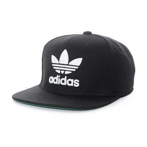 アディダス メンズ キャップ 帽子 adidas Trefoil Chain Black & White Snapback Hat Black fermart