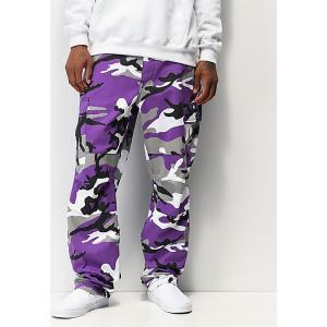 ロスコ ROTHCO メンズ カーゴパンツ ボトムス・パンツ Rothco BDU Tactical Ultra Violet Camo Cargo Pants Purple|fermart