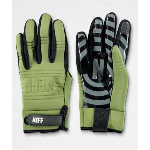 ネフ メンズ グローブ スキー・スノーボード Neff Daily Olive Pipe Snowboard Gloves Green|fermart
