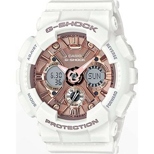 ジーショック G-SHOCK レディース 腕時計 G-Shock GMAS120MF-7A2 White & Rose Gold Watch White|fermart