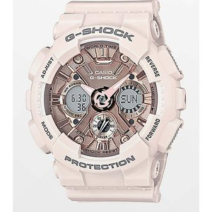 ジーショック G-SHOCK レディース 腕時計 G-Shock GMAS120MF-4A Light Pink & Gold Watch Light pink|fermart