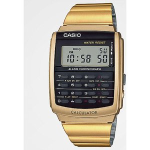 ジーショック G-SHOCK メンズ 腕時計 Casio Vintage Calculator Gold Watch Gold|fermart