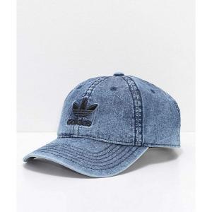 アディダス レディース キャップ 帽子 adidas Originals Relaxed Denim & Black Strapback Hat Blue fermart