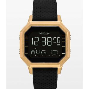 ニクソン NIXON WATCHES レディース 腕時計 Nixon Siren SS Leila Gold & Black Digital Watch Black|fermart