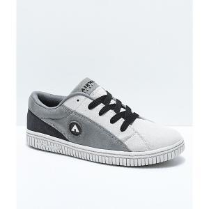 エアウォーク メンズ スニーカー シューズ・靴 Airwalk One Charcoal & Grey Skate Shoes Grey fermart