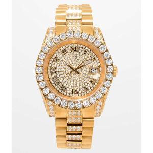 キング アイス メンズ 腕時計 King Ice LX 14k Gold Watch Gold fermart