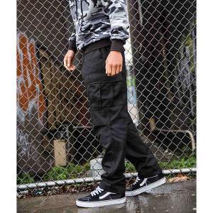 ロスコ ROTHCO メンズ カーゴパンツ ボトムス・パンツ Rothco Tactical BDU Solid Black Cargo Pants Black|fermart