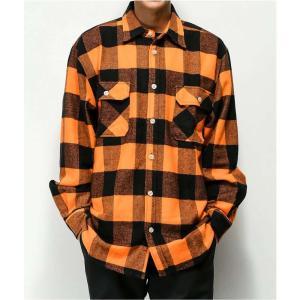 ロスコ ROTHCO メンズ シャツ フランネルシャツ トップス heavyweight orange flannel shirt Orange|fermart