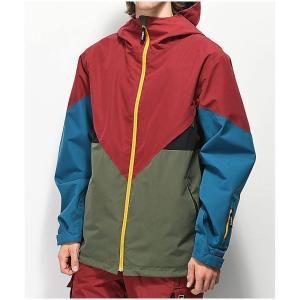 アディダス ADIDAS メンズ アウター スキー・スノーボード Premiere Green & Maroon Snowboard Jacket Dark green|fermart