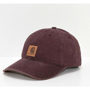 カーハート レディース キャップ 帽子 Carhartt Odessa Deep Wine Strapback Hat Dark red|fermart