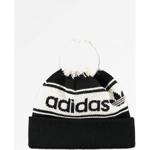 アディダス ADIDAS メンズ ニット ポンポン ビーニー 帽子 adidas Originals Black & White Pom Beanie Black|fermart