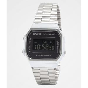 カシオ CASIO AMERICA INC レディース 腕時計 Casio A168WEM-1VT Vintage Silver & Black Digital Watch Silver|fermart