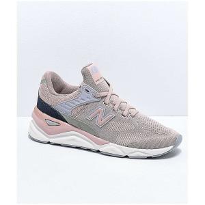 ニューバランス NEW BALANCE レディース シューズ・靴 ランニング・ウォーキング Lifestyle X90 Au Lait & Arctic Sky Knit Shoes Pink|fermart