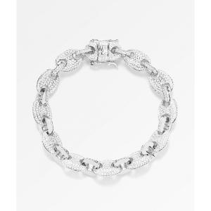 ザゴールドゴッズ THE GOLD GODS メンズ ブレスレット ジュエリー・アクセサリー 8mm Diamond Gucci Link White Gold Bracelet Silver fermart