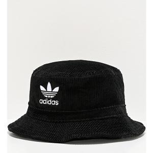 アディダス ADIDAS メンズ ハット バケットハット 帽子 adidas Originals Widewale Corduroy Black Bucket Hat Black|fermart