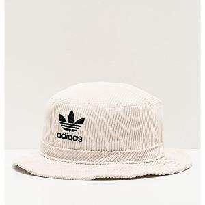アディダス ADIDAS メンズ ハット バケットハット 帽子 adidas Originals White Corduroy Bucket Hat White|fermart