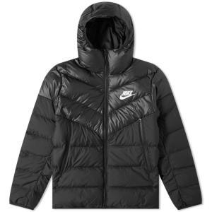 ナイキ Nike メンズ ダウン・中綿ジャケット アウター down filled hooded windrunner jacket Black/White|fermart