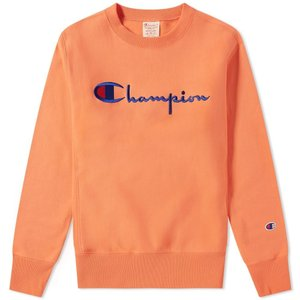 チャンピオン Champion Reverse Weave メンズ スウェット・トレーナー トップス script logo crew sweat Peach|fermart
