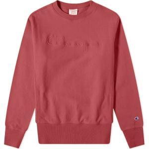 チャンピオン Champion Reverse Weave メンズ スウェット・トレーナー トップス logo garment dyed sweat Red fermart
