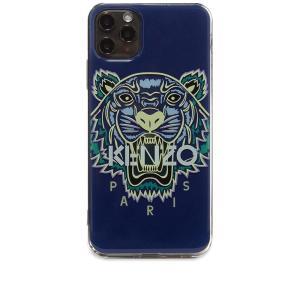 ケンゾー Kenzo メンズ iPhoneケース Tiger Head iPhone XI Max Case Slate Blue|fermart