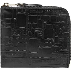 コムデギャルソン Comme des Garcons Wallet メンズ 財布 Comme des Garcons SA3100EL Embossed Logo Wallet Black|fermart