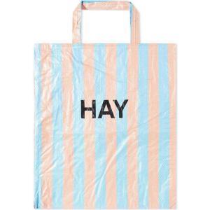 ヘイ HAY メンズ トートバッグ バッグ Candy Stripe XL Shopper Blue/Orange fermart