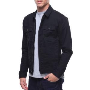ジョーダン クレイグ メンズ ジャケット アウター zip up denim jacket Black|fermart