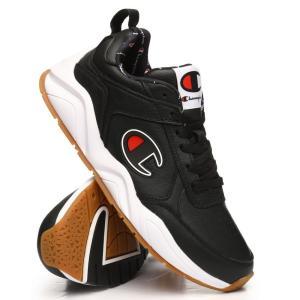チャンピオン Champion メンズ スニーカー シューズ・靴 93eighteen leather big c logo sneakers Black|fermart