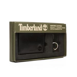 ティンバーランド Timberland メンズ 財布 leather wallet/bottle opener set Black|fermart