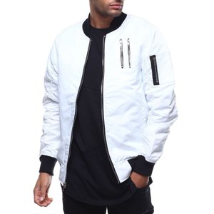 バイヤーズピック Buyers Picks メンズ ブルゾン アウター bomber jacket w zipper detail White|fermart