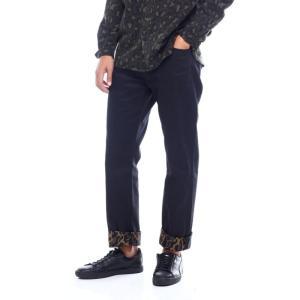 リーバイス Levi's メンズ ジーンズ・デニム ボトムス・パンツ 501 bubble cheetah monks roll cuff jean Animal Print|fermart