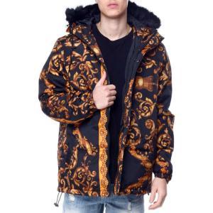 リーズン Reason メンズ ダウン・中綿ジャケット アウター Secret Puffer Jacket Black/Gold|fermart