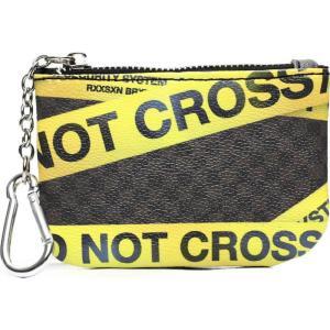 リーズン Reason メンズ 財布 do not cross coin pouch Brown|fermart