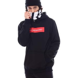リーズン Reason メンズ パーカー トップス distancing face-cover hoodie Black|fermart