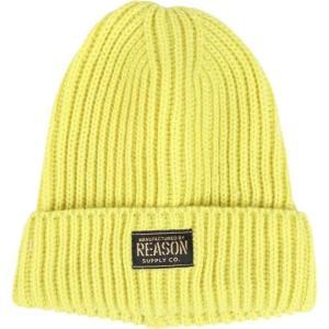 リーズン Reason メンズ ニット ビーニー 帽子 astro beanie Yellow|fermart