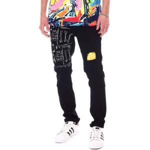 リーズン Reason メンズ ジーンズ・デニム ボトムス・パンツ basquiat studio jean Black|fermart