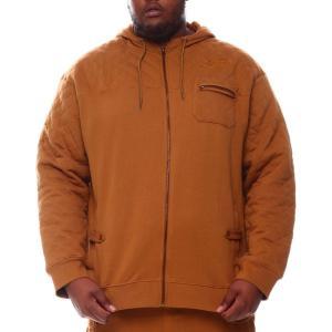 ボーンフライ Born Fly メンズ パーカー トップス quilted hoodie (b&t) Cognac|fermart