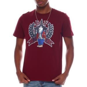 ボーンフライ Born Fly メンズ Tシャツ トップス grambling tee Burgundy|fermart