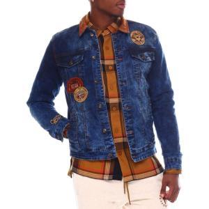ボーンフライ Born Fly メンズ ジャケット Gジャン アウター Blue Label Denim Jacket Dark Indigo|fermart