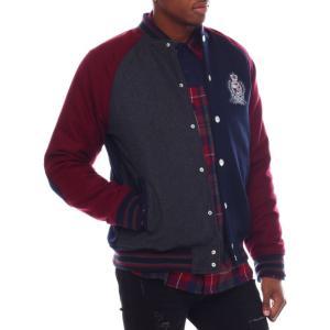 ボーンフライ Born Fly メンズ ブルゾン アウター oxford varsity jacket Navy|fermart