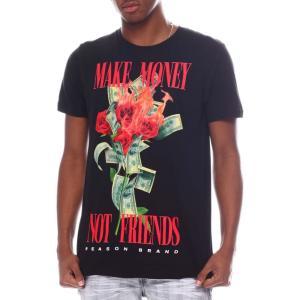 リーズン Reason メンズ Tシャツ トップス burn money bouquet tee Black|fermart