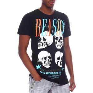 リーズン Reason メンズ Tシャツ トップス skulls tee Black|fermart