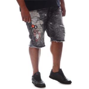ボーンフライ Born Fly メンズ ショートパンツ デニム ボトムス・パンツ chief denim shorts (b&t) Black Wash|fermart