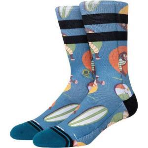 スタンスソックス Stance Socks メンズ ソックス インナー・下着 monkey chillin crew socks Teal|fermart