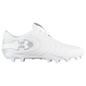 アンダーアーマー メンズ シューズ・靴 アメリカンフットボール Nitro Low MC White/Metallic Silver fermart