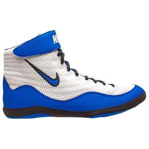 ナイキ メンズ シューズ・靴 レスリング Nike Inflict 3 White/Game Royal/Black|fermart
